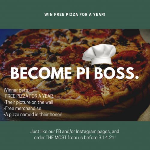 Year Pizza Contest - Pi Boss - Green